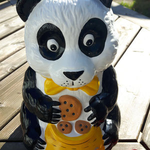 Vintage Panda Bear Cookie Jar